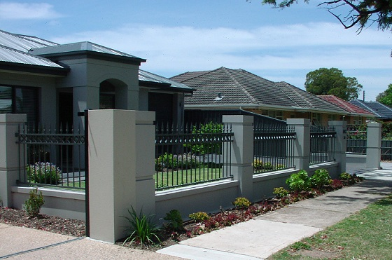Sandstone fencing pillar modern tuscan in adelaide for Contemporary tuscan homes